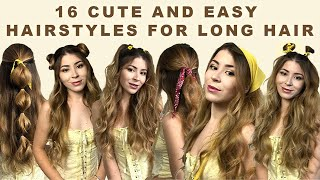 16 Cute And Easy Hairstyles For Long Hair   Vintage Aesthetic Hairstyles ✰