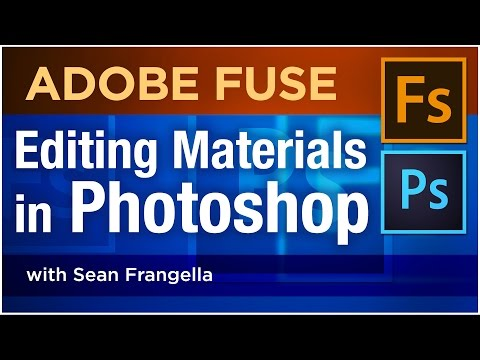 Adobe Fuse CC Tutorial – Edit Materials in Photoshop for 3D Characters created in Adobe Fuse