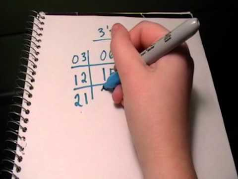 Screenshot of video: 3 times tables trick - very cool video to share with children