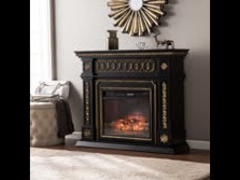 FI9661: Donovan Infrared Electric Fireplace - Black Assembly Video