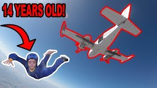 14 YEAR OLD GOES SKYDIVING!