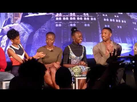 Full Video: Black Panther Press Conference: Chadwick Boseman, Michael B. Jordan, Lupita Nyong'o