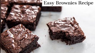 chocolate brownie recipe made with cocoa powder