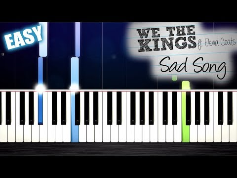 We The Kings - Sad Song ft. Elena Coats - EASY Piano Tutorial by PlutaX