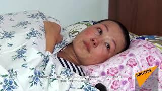 Муж бросил жену с детьми, узнав, что она больна раком, — грустное видео из Оша