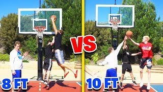 8ft VS 10ft HOOP! BASKETBALL GAME of 21!