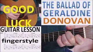 THE BALLAD OF GERALDINE - DONOVAN fingerstyle GUITAR LESSON