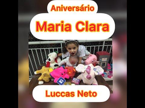 Aniversrio da Maria Clara com a presena de Luccas Neto