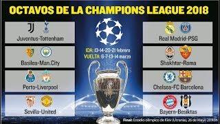 Футбол Лига Чемпионов 1/8 Результаты\ Расписание и Календарь 2017/2018 Champions League  Results