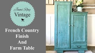 French Country Finish And Farm Table