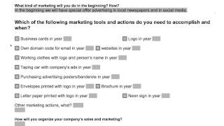 Business plan: Marketing and sales strategy (instructions)