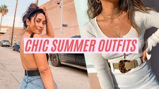 10 CHIC SUMMER OUTFIT IDEAS || STYLING FT. NASTY GAL LULUS SHOWPO || IMLVH
