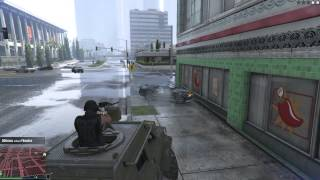 Gta online playing with -threight- HEAVY ARMOURED VEHICLE WITH MASSIVE ANTI TANK GUN