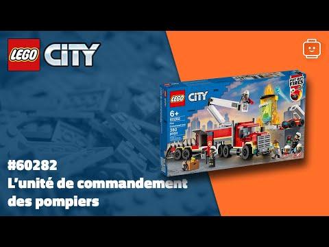 Vidéo LEGO City 60282 : L'unité de commandement des pompiers