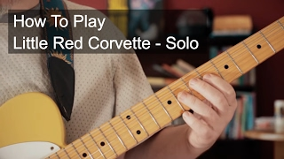 Little Red Corvette Solo Prince Guitar Tutorial