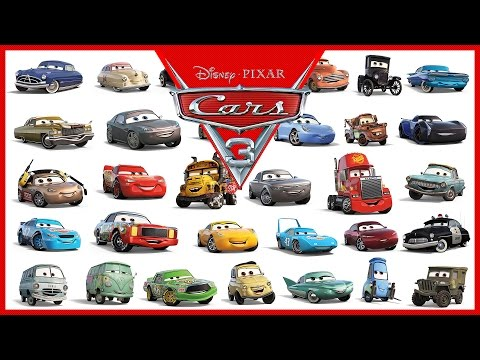 Disney Pixar Cars 3 All Characters Cars 2017