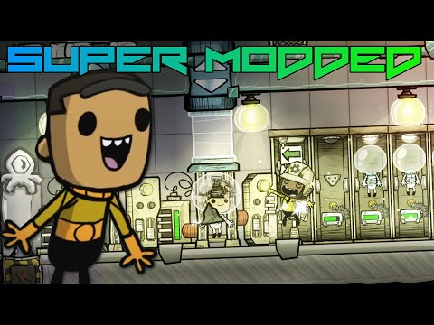 I Made a BIG Tube Station! Super Modded Oxygen Not Included EP11