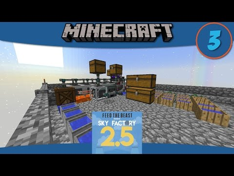 Minecraft Mods: How to Automate Ore Processing with SkyFactory 2.5 - E3
