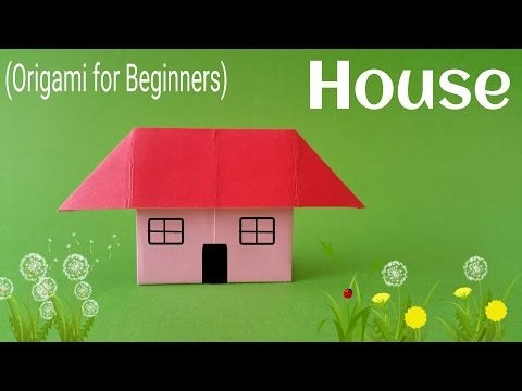 "How To Fold / Make An Easy Paper ""Standing House"" - Origami Tutorial For Beginners"