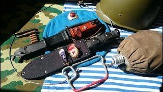 Тест ветераном ВДВ американского боевого ножа Black KA-BAR Fighter mod.nr.1271.