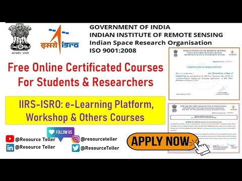 Free Online Certificate Courses & Workshops by @ISRO (Indian ...