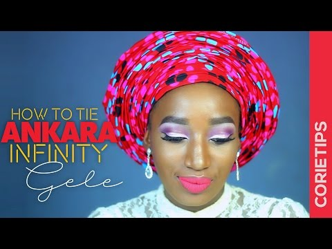 How To Tie Infinty Multi Pleats Gele Tutorial | CorieTips