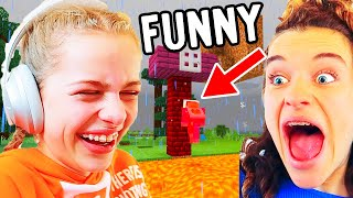 TRY NOT TO LAUGH (funny) Minecraft Hardcore Gaming w/ The Norris Nuts