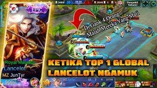 OMG 😲 Lancelot Gak Di Ban | Top 1 Global Lance Ngamuk | Korea VS UK | National Arena Contes
