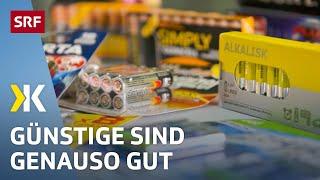 AAA-Batterien im Test: Wer klug einkauft, kann viel sparen  | 2018 | SRF Kassensturz