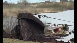 Подъем танка Т-34 в Зеленкино - полное видео