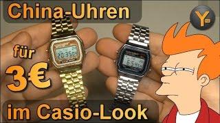 Casio Armbanduhr Klone aus China für 2-3€ / Casio Digital Quarz Fakes