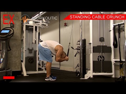 Abs Exercises - STANDING CABLE CRUNCH