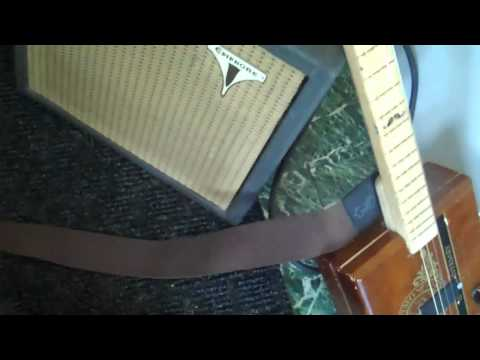 Trying out Loop Station with Stache Box cigar box guitar.