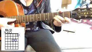 How To Play A Bb/D Chord Guitar Lesson For Beginners