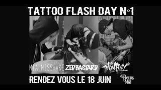 Tattoo Flash Day #1 Au Salon Les Fleurs Du Mal - Le Happy Hour De Color My Skin N° 7