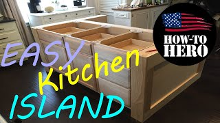 Custom KITCHEN Island Build   EASY