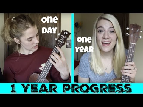 My ukulele progress after 1 year!