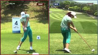[Slow HD] LEE Mi-Rim 2012 Driver Golf Swing Dual View_KLPGA Tour (3)