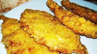 Отбивные из курицы как Стрипсы в KFC