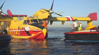 Mise en situation du Canadair - Raid Hydravion 2015