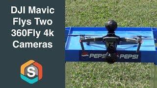 DJI Mavic Pro flys two 360Fly 4k Cameras
