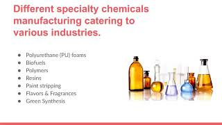 Specialty Chemicals Manufacturing Industry in India