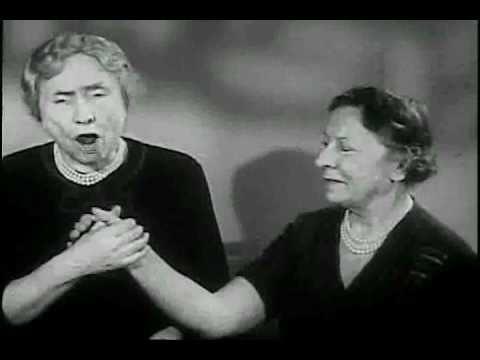 Blind and deaf, Helen Keller, speaks with natural voice