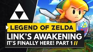 IT'S FINALLY HERE! The Legend of Zelda Link's Awakening Switch Remake - Gameplay Part 1