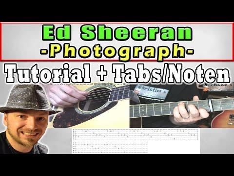 ★Ed Sheeran PHOTOGRAPH Tutorial   Easy Guitar Lesson   Tabs + Chords