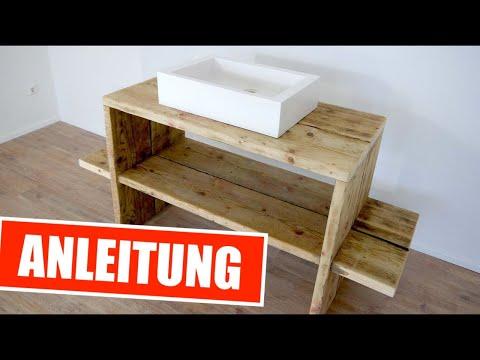 Genialen Waschtisch aus Gerüstbohlen einfach selber bauen !