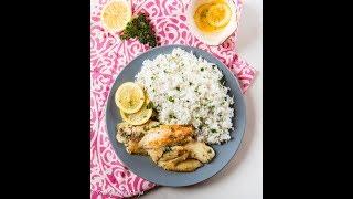 Lemon Butter Fish on Parsley Rice