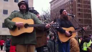 Chris Buhalis, Joshua Davis, Drew Howard @ Right to Work Protest in Lansing, MI