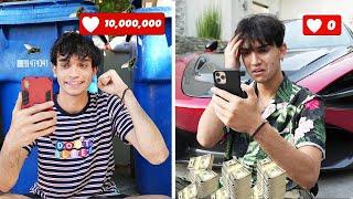 Rich Unpopular Twin vs Broke Popular Twin