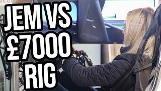 Jem Tries Out My £7000 Praga Driving Simulator!